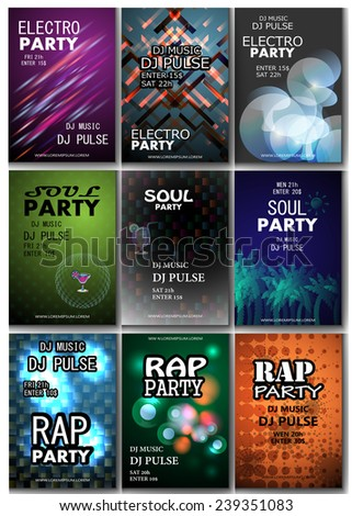 music placard template   vector