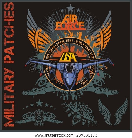 air force patch set   stock