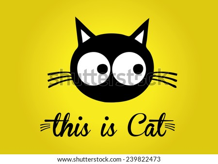 this is cat  cat vector  cute