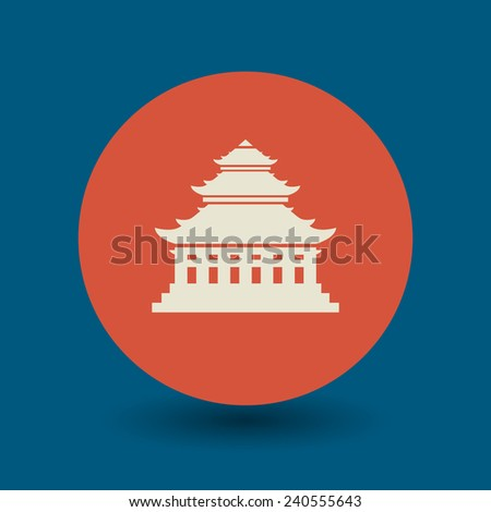 asian pagoda icon or sign