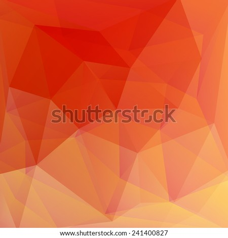 red and orange crystal vector