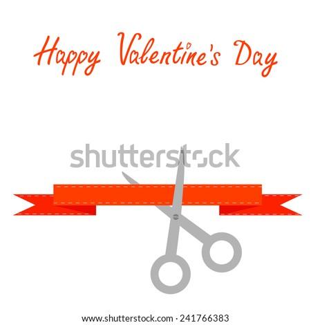 scissors cut decorative red