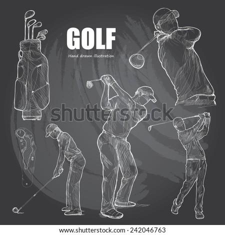 illustration of golf hand