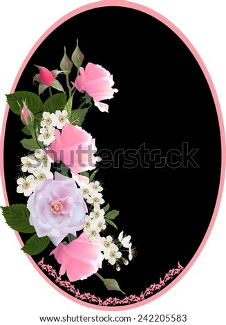 illustration with rose flowers