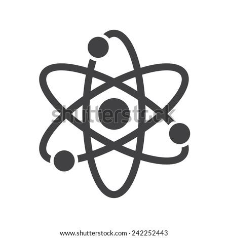 atom  modern flat icon