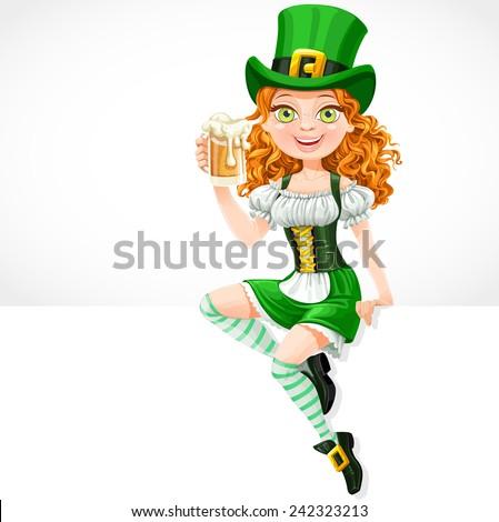 beautiful girl leprechaun