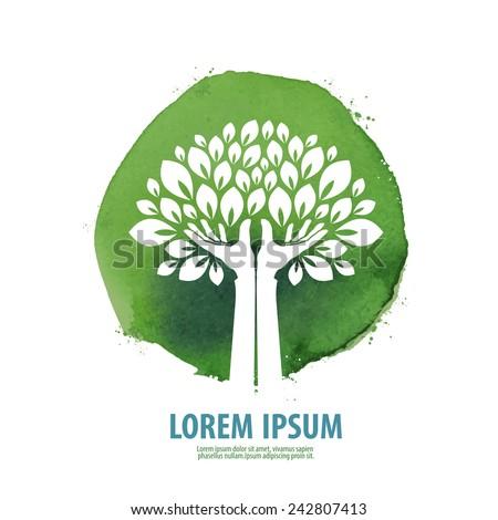 tree logo  icon  sign  emblem