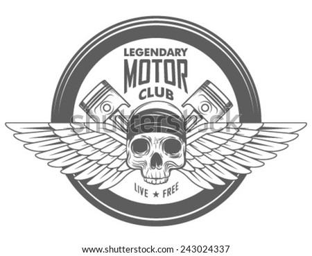 vintage motorcycle label  badge