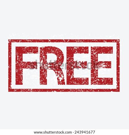 free stamp vector illustration