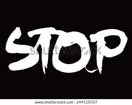vector sign stop