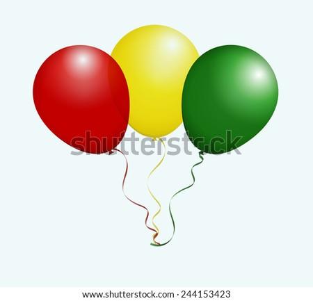 balloons in vector as guinea