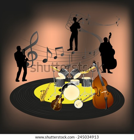 vector illustration of a jazz