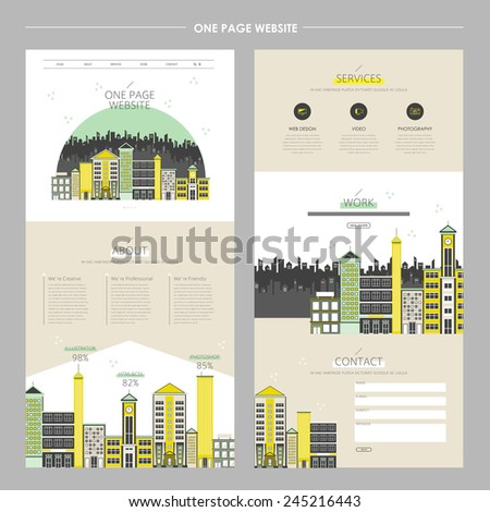 creative cityscape one page