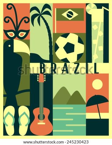 vector brazil icon