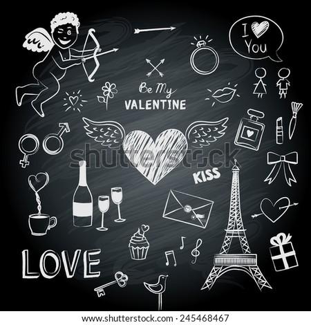 symbols of valentine's day on