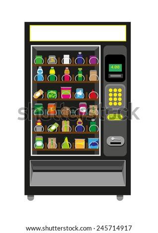 vending machine black color