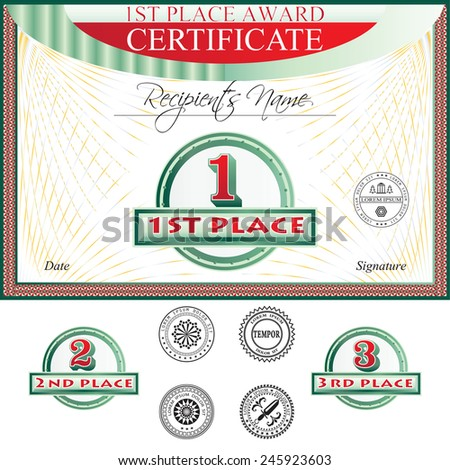 Certificate of merit template free vector download 12485 Free – Merit Certificate Sample