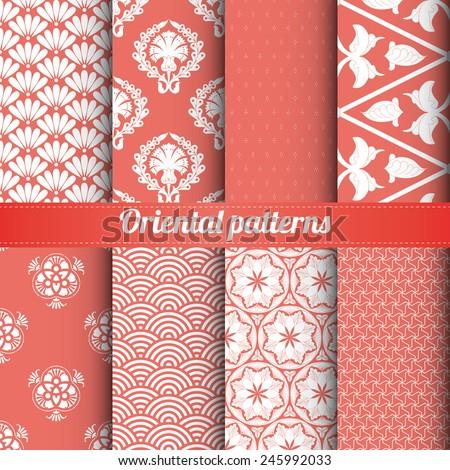 set of 8 oriental patterns
