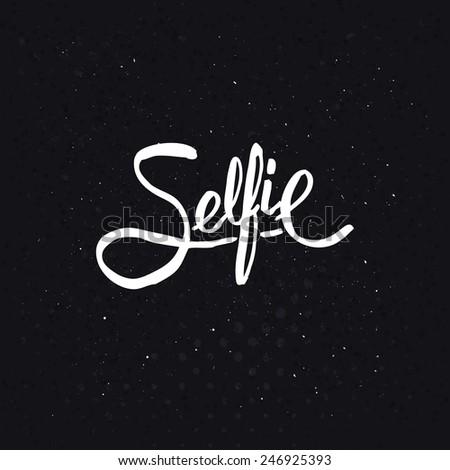simple text design for selfie