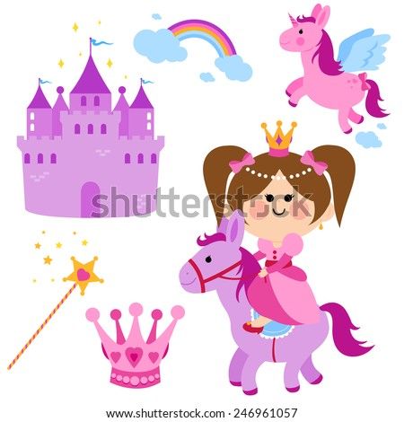 cute princess fairy tale set