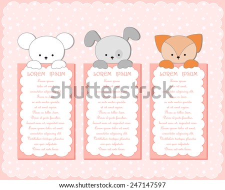 baby animal banners collection