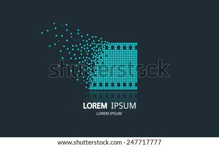 film strip logo vector