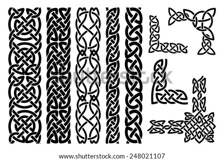 stock-vector-set-of-celtic-patterns-and-celtic-ornament-corners-in-black-vector-illustration