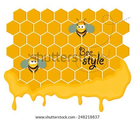 cute pair of smiling bees