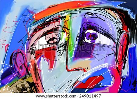original abstract digital