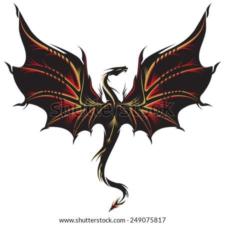 stylized image of dragon tattoo