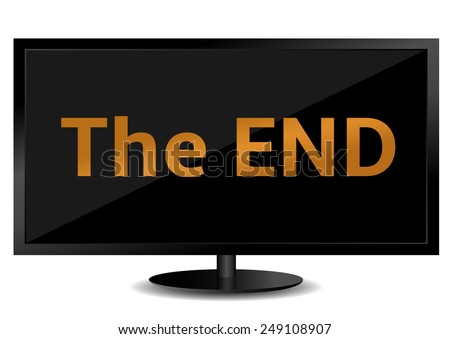 the end text on the tv screen