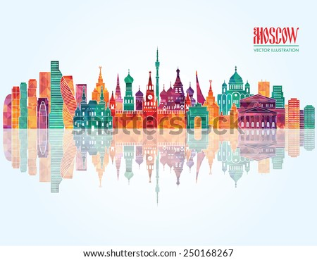 moscow  skyline detailed