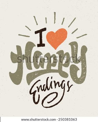 'i love happy endings' vintage