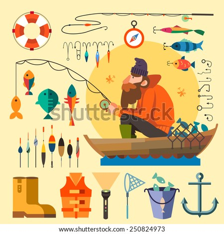 fisherman in a boat fishing