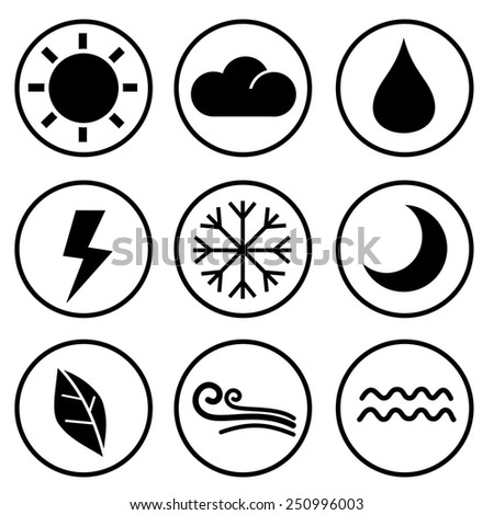 design style weather icons