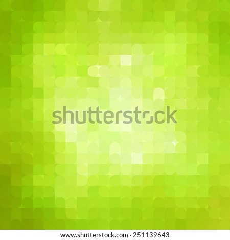 vector abstract  green mosaic