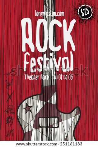rock music poster template