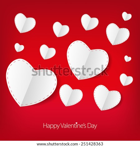 valentines day love card with