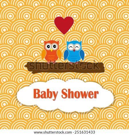 cute baby shower design vector