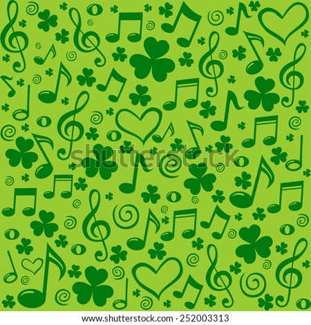 st patrick's day background in
