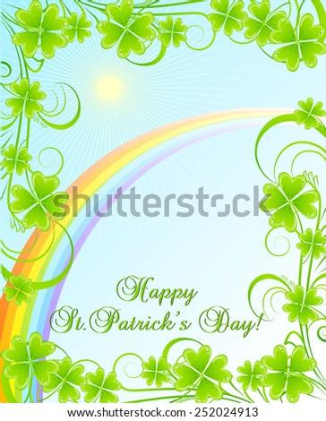 greeting card for stpatrick's
