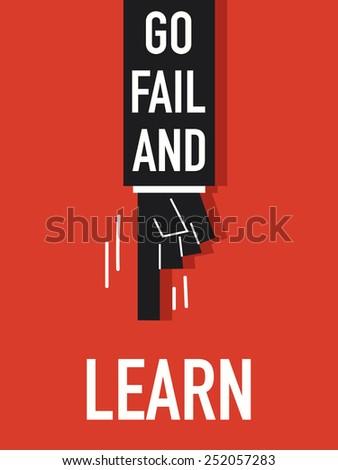 words go fail and learn