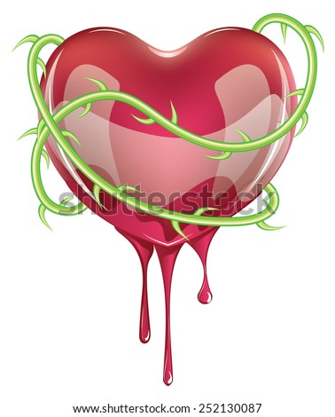 red bleeding heart icon with