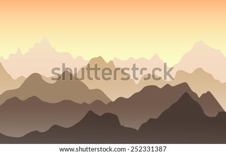 beautiful mountain landscape in
