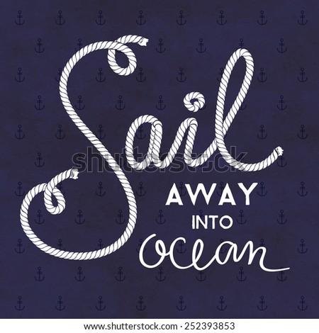 nautical vector typography