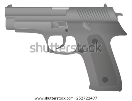 semi automatic gun   vector