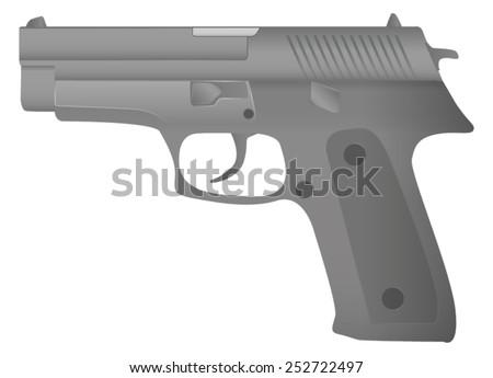 semi automatic gun   vector