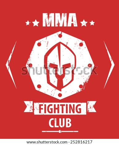 mma fighting club grunge emblem