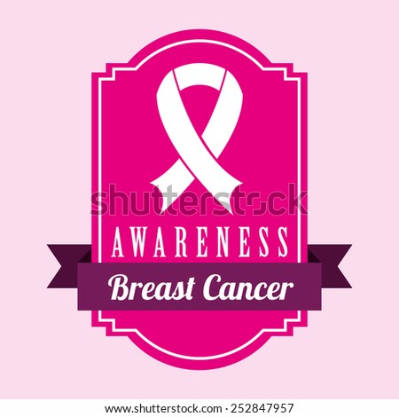 breast cancer design over pink