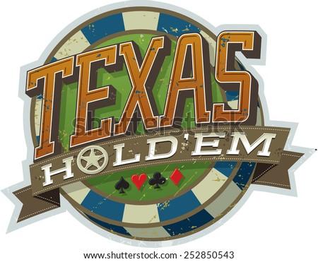 texas hold'em poker a vector